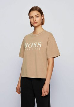 BOSS - EVINA ACTIVE - T-Shirt print - light brown