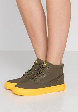 Polo Ralph Lauren - Sneakers hoog - military/yellow