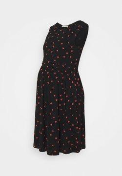 Anna Field MAMA - NURSING dress - Vestido ligero - black/red