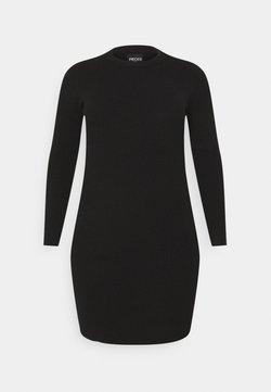 Pieces Curve - PCPENNY O NECK DRESS - Strickkleid - black