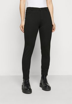 Even&Odd Petite - 5 pockets PUNTO trousers - Kangashousut - black