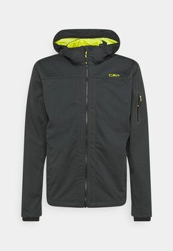 CMP - MAN ZIP HOOD JACKET - Softshelljacke - jungle/lime