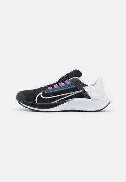 Nike Performance - AIR ZOOM PEGASUS 38 FLYEASE 4E - Neutrala löparskor - black/metallic silver/white/chlorine blue/anthracite/flash crimson