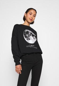 Even&Odd - Printed Oversized Sweatshirt - Collegepaita - black