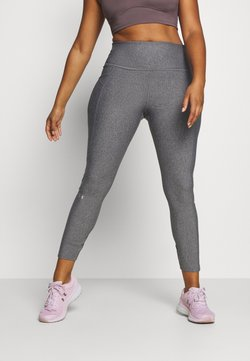 Under Armour - HI RISE LEGGINGS - Trikoot - charcoal light heather