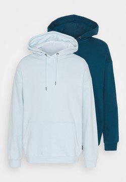 YOURTURN - 2 PACK UNISEX - Hoodie - teal/light blue