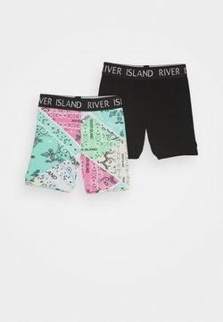 River Island - 2 PACK - Shorts - black
