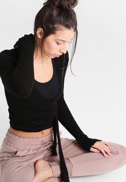 Deha - WRAP  - Stickad tröja - black