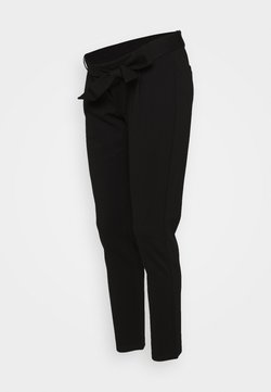 Pieces Maternity - PCMBEATE TIE PANTS - Kangashousut - black