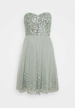 Maya Deluxe - BANDEAU EMBELLISHED DRESS - Cocktailkleid/festliches Kleid - soft sage green
