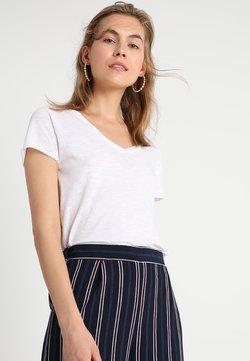 American Vintage - JACKSONVILLE V NECK TEE - T-shirt basique - blanc
