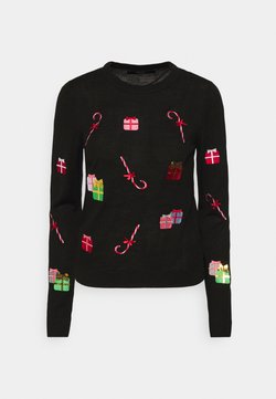 Vero Moda - VMCHRISTMASPATCH O NECK - Neule - black