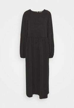 Missguided Tall - OVERSIZED MIDI SMOCK DRESS - Vestito estivo - black