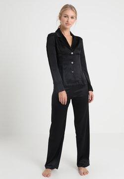 La Perla - LONG PAJAMAS SHORT VERSION SET - Pyjama set - black