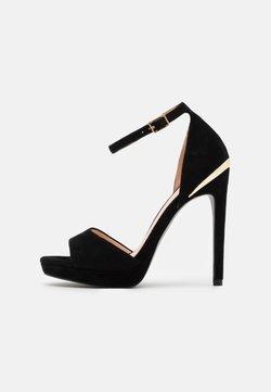 Even&Odd - LEATHER - High Heel Sandalette - black