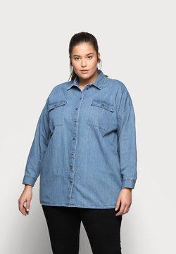 Noisy May Curve - NMFLANNY LONG SHACKET - Camisa - medium blue denim