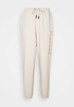 Missguided Tall - PLAYBOY LOGO OVERSIZED JOGGERS - Jogginghose - sand