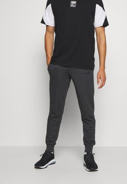 Puma - ESS LOGO PANTS - Verryttelyhousut - dark gray heather