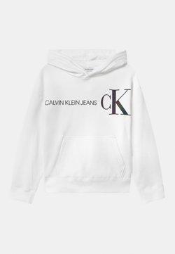 Calvin Klein Jeans - REFLECTIVE LOGO HOODIE - Bluza z kapturem - white