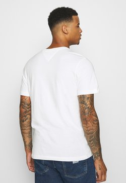 Tommy Jeans - CHEST CORP TEE UNISEX - T-shirt con stampa - white