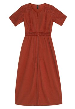 YAS - YASKAILEY THROW OVER FEST - Vestido informal - red ochre