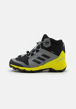 adidas Performance - TERREX MID GTX UNISEX - Obuwie hikingowe - core black/grey three/acid yellow