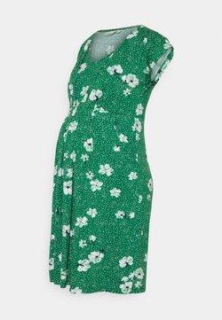 JoJo Maman Bébé - FLORAL MATERNITY NURSING  - Jerseykjoler - green