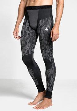 ODLO - Tights - black/odlo steel grey/silver