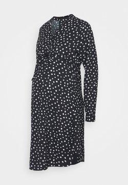 ONLY - OLMCORY V-NECK TUNIC - Vestido camisero - black