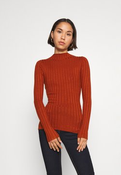 Even&Odd - Wide rib jumper - Strickpullover - brown
