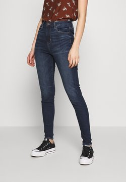 American Eagle - CURVY RISE - Jeans Skinny Fit - midnight dreamer
