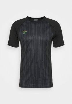 Umbro - PRO TRAINING ELITE GRAPHIC - T-shirt con stampa - black/carbon