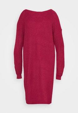 Glamorous Curve - OPEN BACK INSERT DRESS - Sukienka dzianinowa - raspberry
