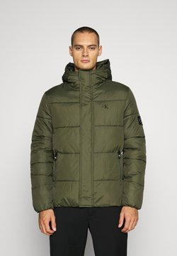 Calvin Klein Jeans - HOODED PUFFER JACKET - Winterjacke - deep depths