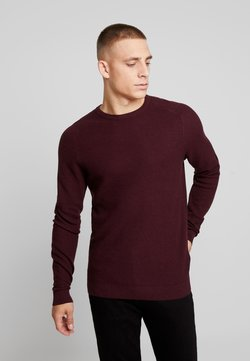 Esprit - HONEYCOMB - Strickpullover - bordeaux red