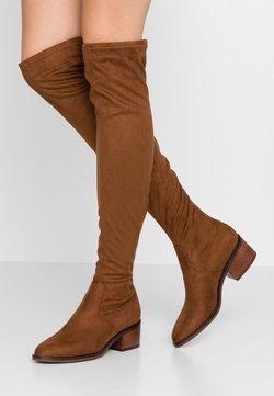 Steve Madden - GEORGETTE - Overknee laarzen - brown