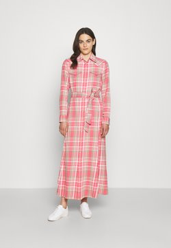 Polo Ralph Lauren - LONG SLEEVE DAY DRESS - Maxikjole - red/white multi