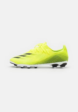 adidas Performance - X GHOSTED.3 MG - Moulded stud football boots - solar yellow/core black/royal blue