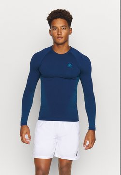 ODLO - PERFORMANCE WARM ECO CREW NECK - Camiseta interior - estate blue/atomic blue
