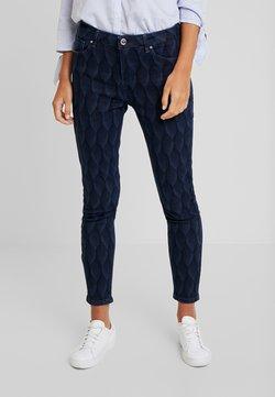 Yargici - PRINTED TROUSER - Slim fit jeans - dark indigo
