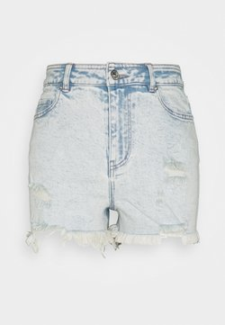 Pieces Petite - PCLAYA SUPER ACID - Szorty jeansowe - light blue denim