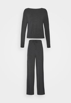 Anna Field - JERSEY WIDE LEG PJ SET  - Pyjama - dark grey
