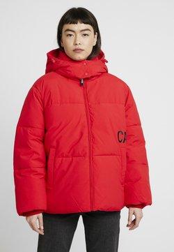 Calvin Klein Jeans - OVERSIZED LOGO PUFFER - Winterjacke - racing red