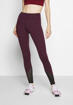 Wolf & Whistle - EXCLUSIVE LEGGINGS WITH PANELS - Trikoot - plum
