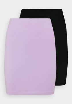 Even&Odd - 2 PACK - Spódnica mini - black/lilac