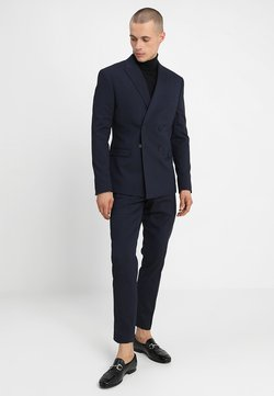 Isaac Dewhirst - DOUBLE BREASTED PLAIN SLIM FIT SUIT - Kostuum - navy