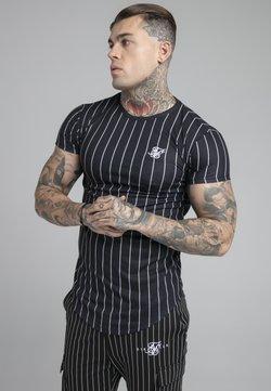 SIKSILK - PINSTRIPE TEE - T-Shirt print - black