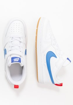 Nike Sportswear - COURT BOROUGH 2 - Baskets basses - white/pacific blue/university red/light brown