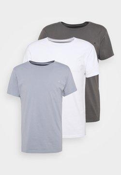 Replay - CREW TEE 3 PACK - Basic T-shirt - white/periwinkle/ash grey