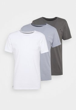Replay - CREW TEE 3 PACK - Basic T-shirt - white/periwinkle/ash grey